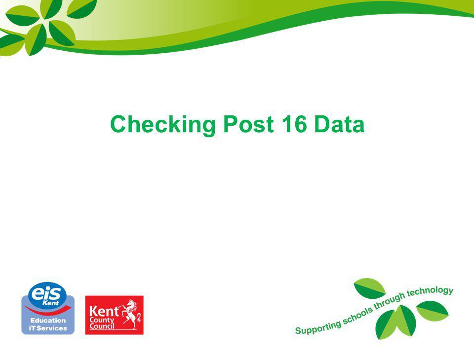 Checking Post 16 Data