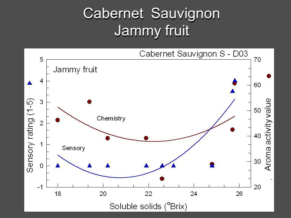 Cabernet Sauvignon Jammy fruit Aroma activity value