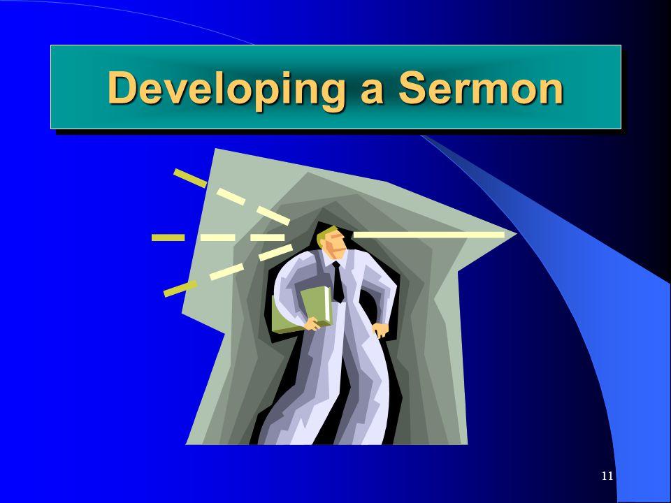 11 Developing a Sermon