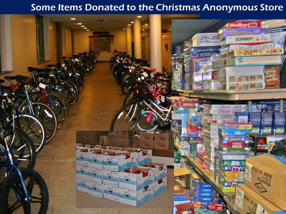 Some Items Donated to the Christmas Anonymous Store