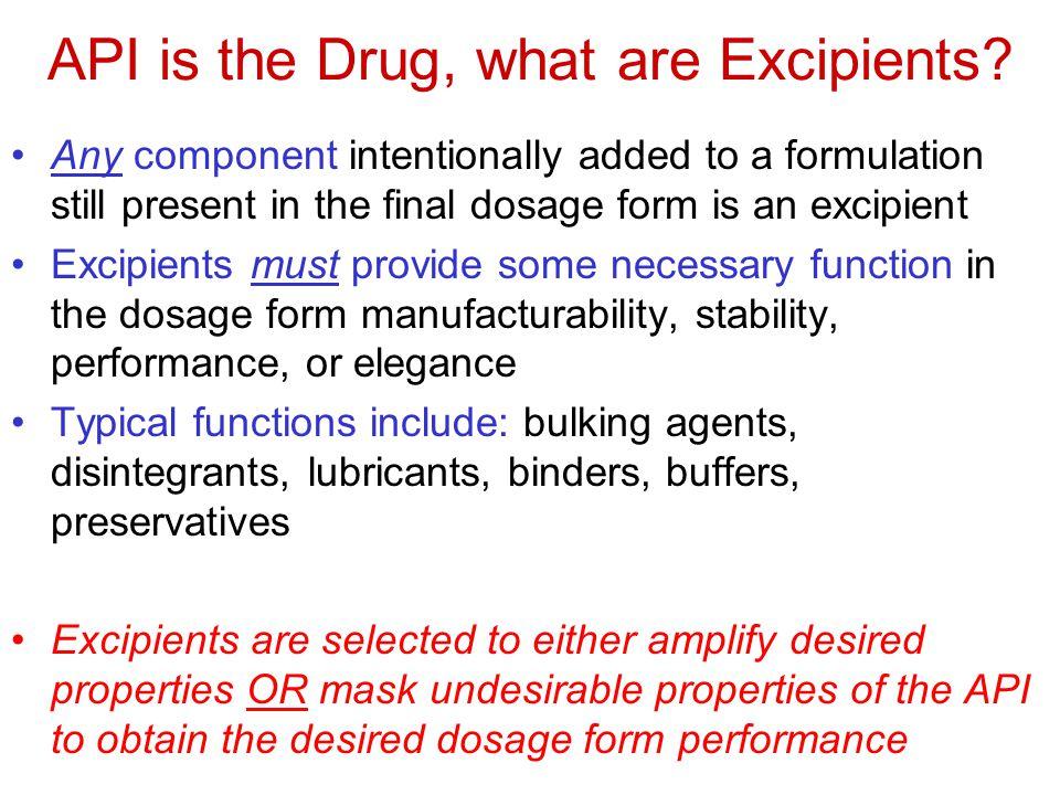 Preformulation-Materials Sciences in Product Development: e.g., tablets