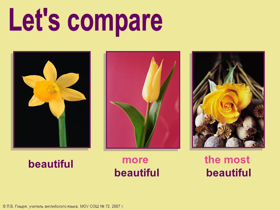 beautiful more beautiful the most beautiful © Л.Б.