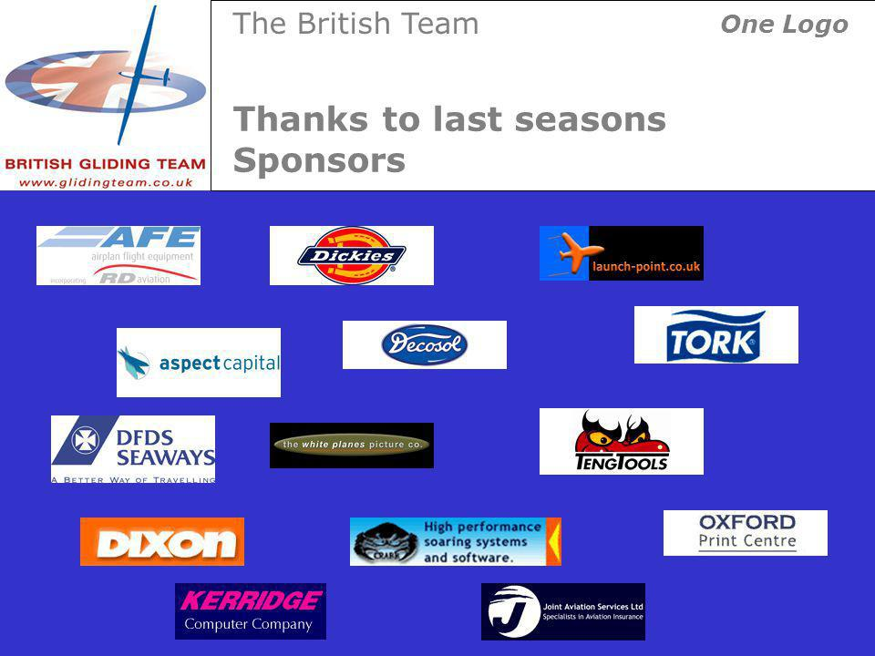 Thanks to last seasons Sponsors The British Team One Logo