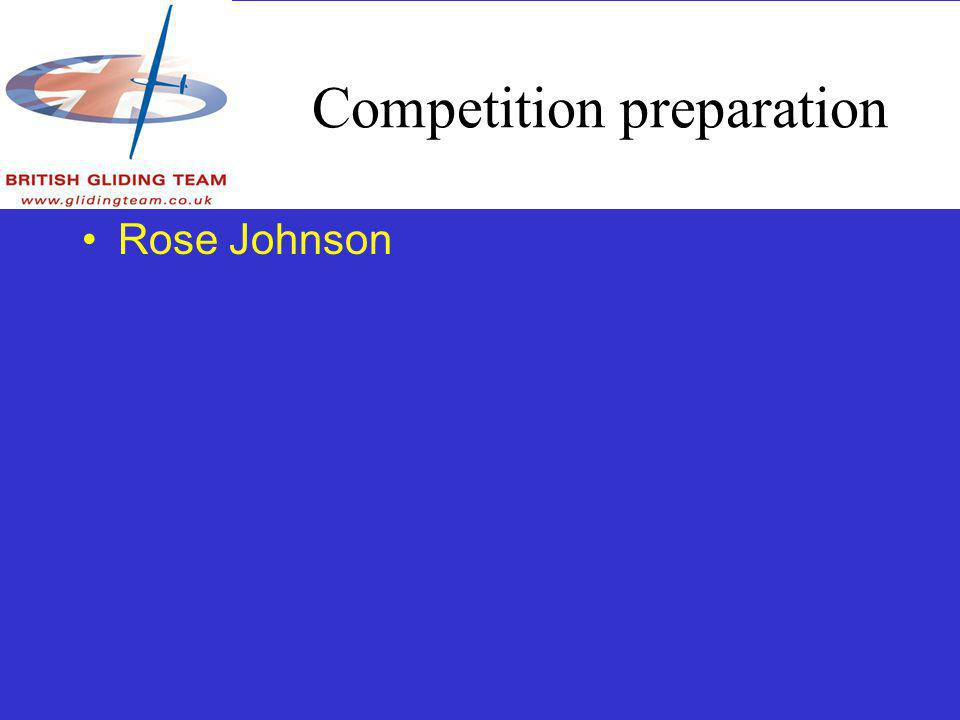 Competition preparation Rose Johnson