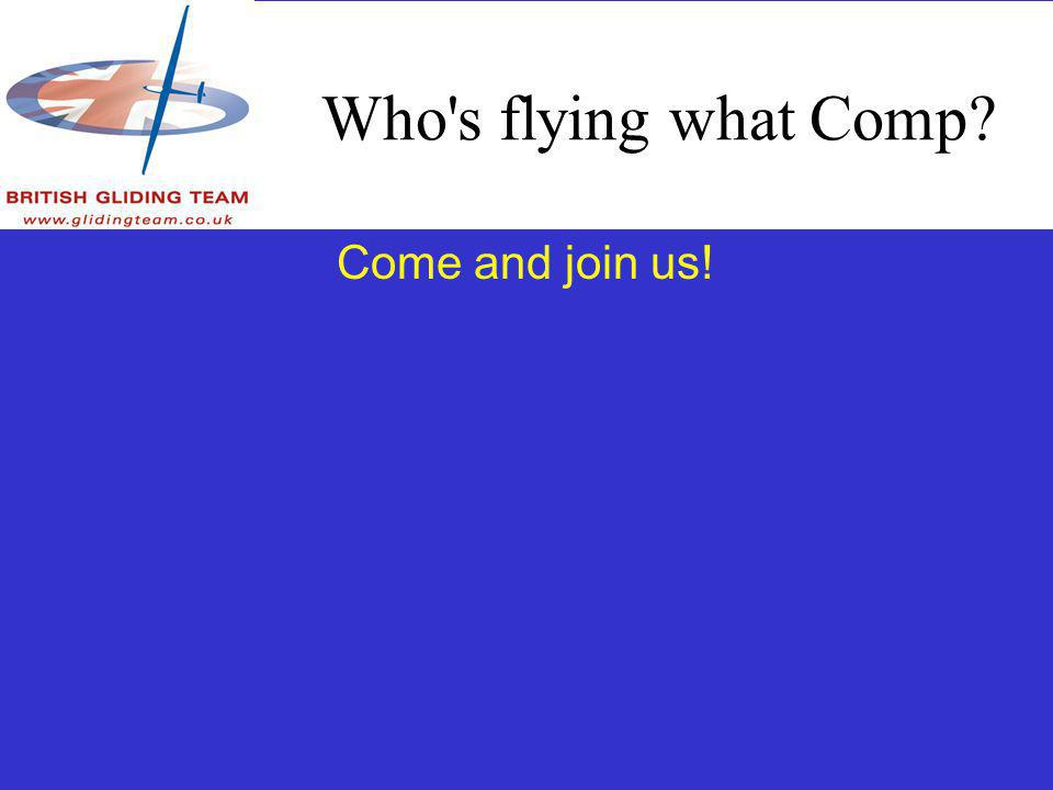 Who s flying what Comp Come and join us!