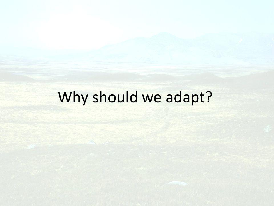 Why should we adapt