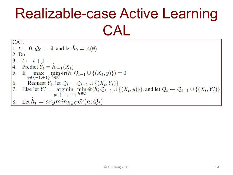 Realizable-case Active Learning CAL © Liu Yang 201354