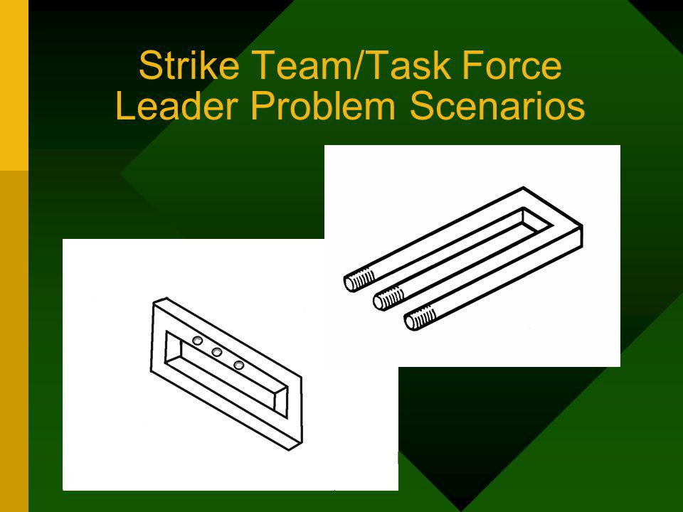 Strike Team/Task Force Leader Problem Scenarios