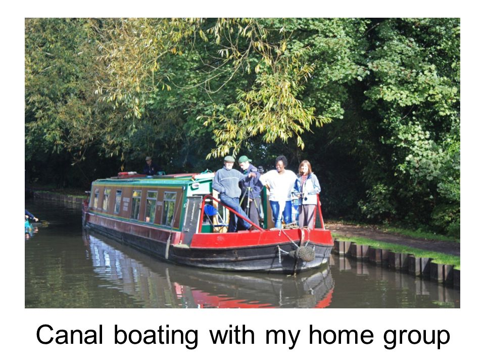 Canal boating with my home group
