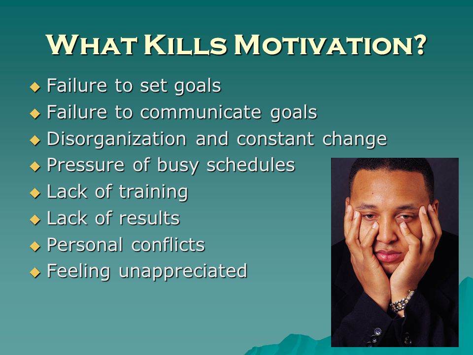 What Kills Motivation.