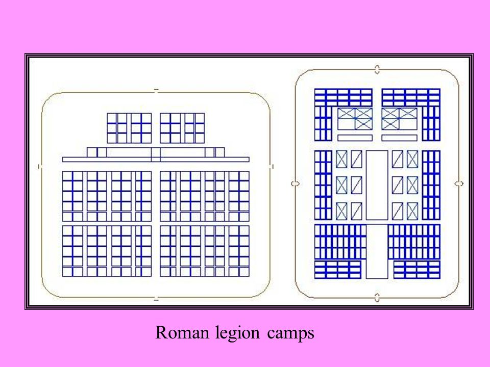 Roman legion camps