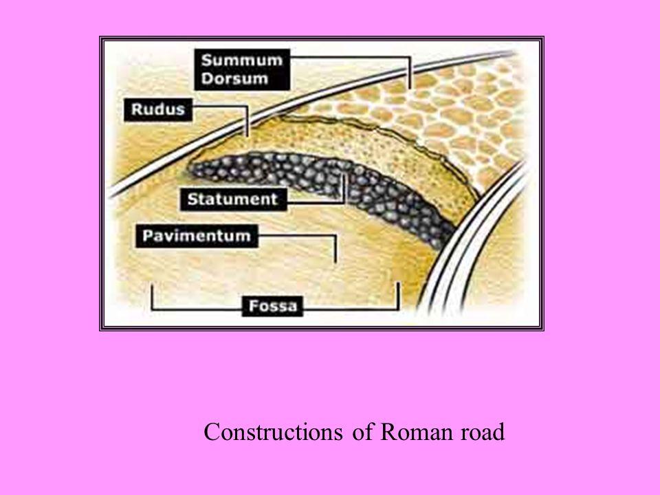 Constructions of Roman road