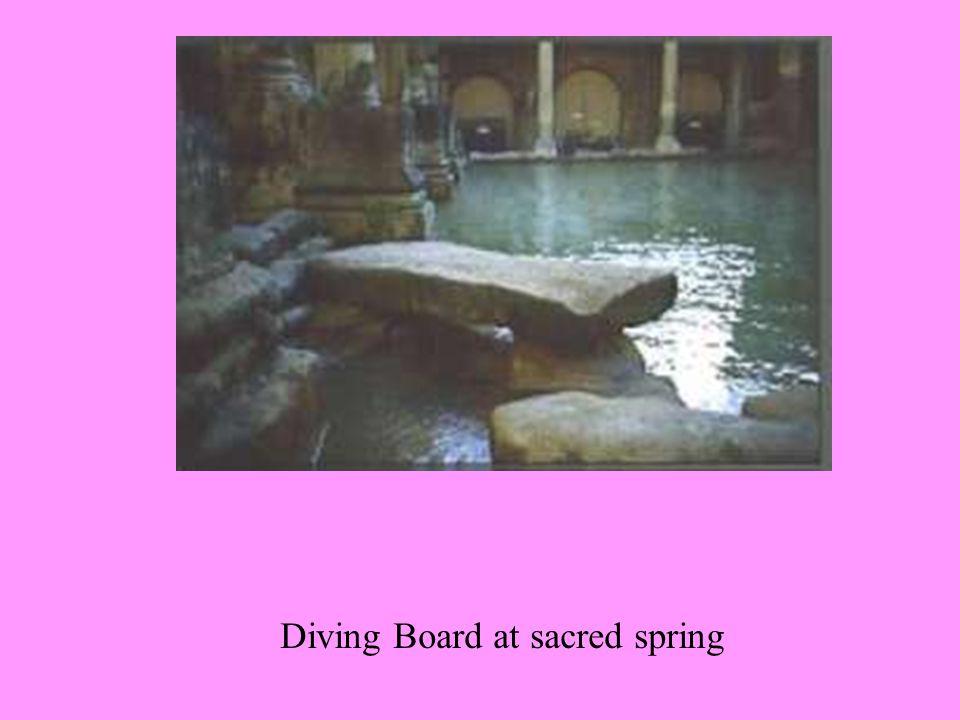 Diving Board at sacred spring