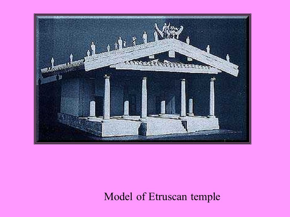 Model of Etruscan temple