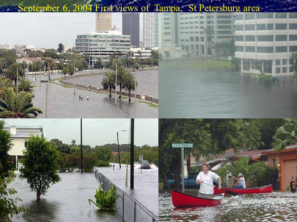 September 6, 2004 First views of Tampa, St Petersburg area