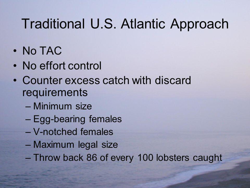 California Lobster Fishery 200 licenses – 151 transferable 300 traps per license average.