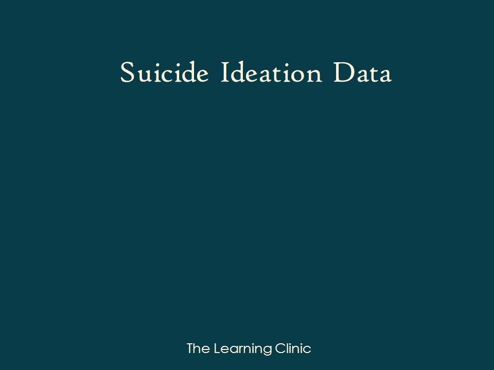The Learning Clinic Suicide Ideation Data