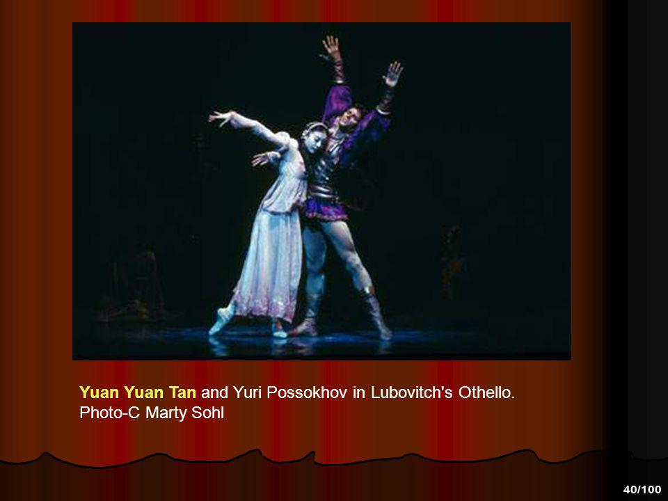 39/100 Yuan Yuan Tan and Yuri Possokhov in Lubovitch's Othello. Photo-C Lloyd Englert