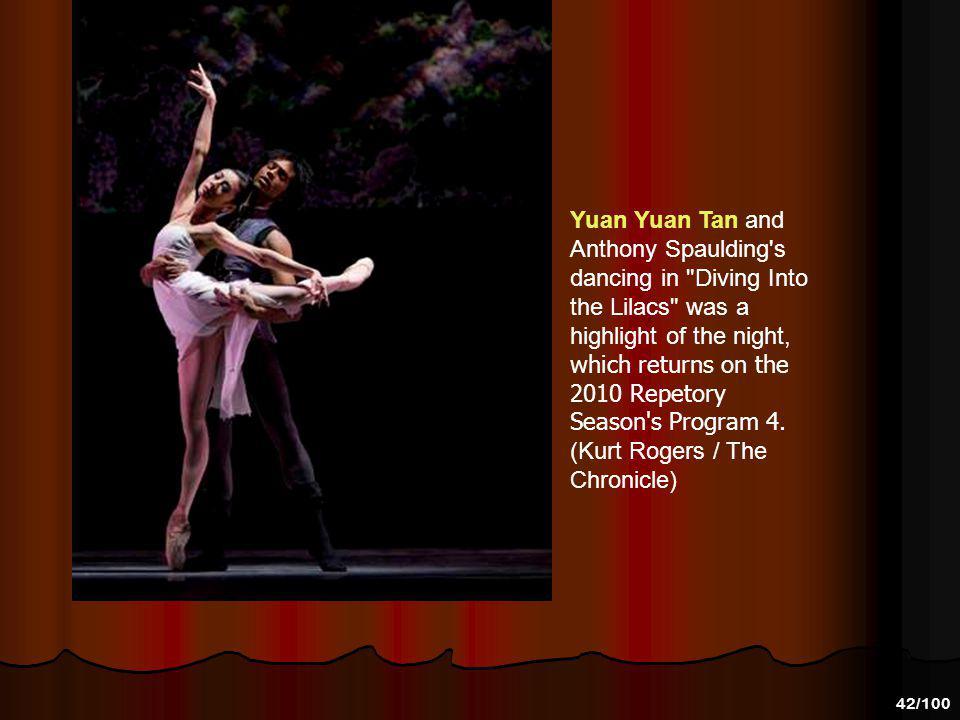 41/100 Yuan Yuan Tan and Anthony Spaulding dance in