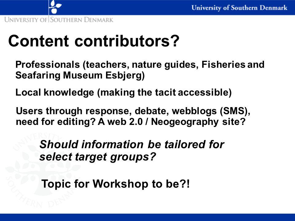 Content contributors.