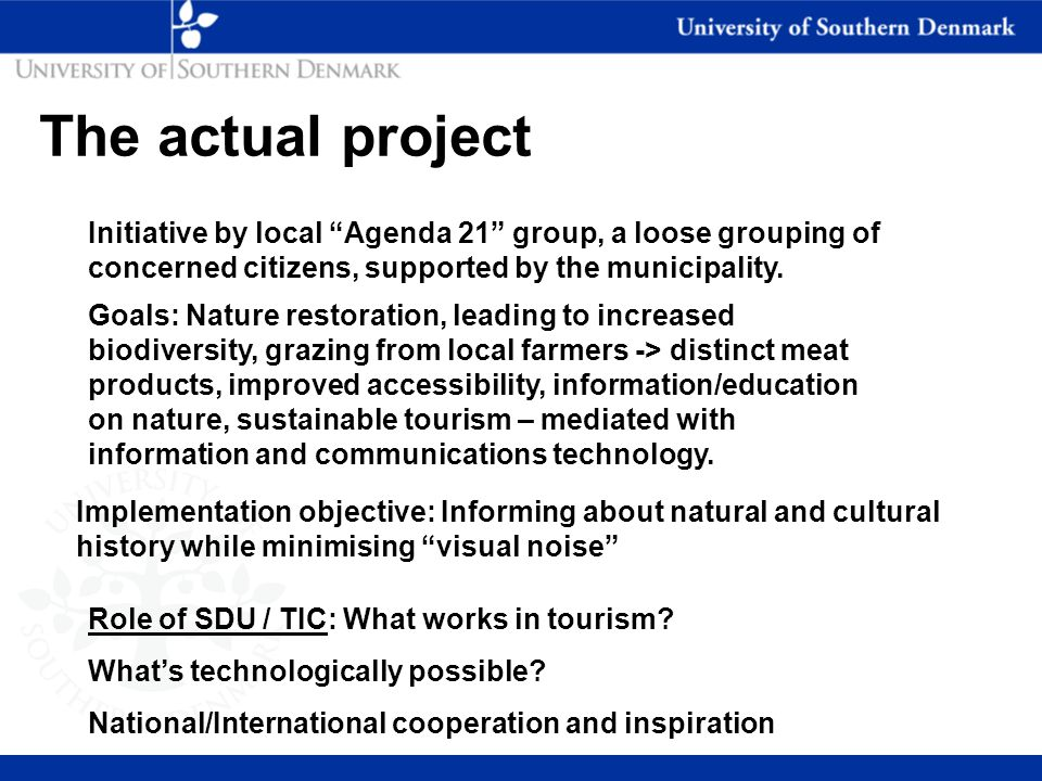 from Nielsen and Liburd (2008, submitted to JTTM) Visitor information search/use