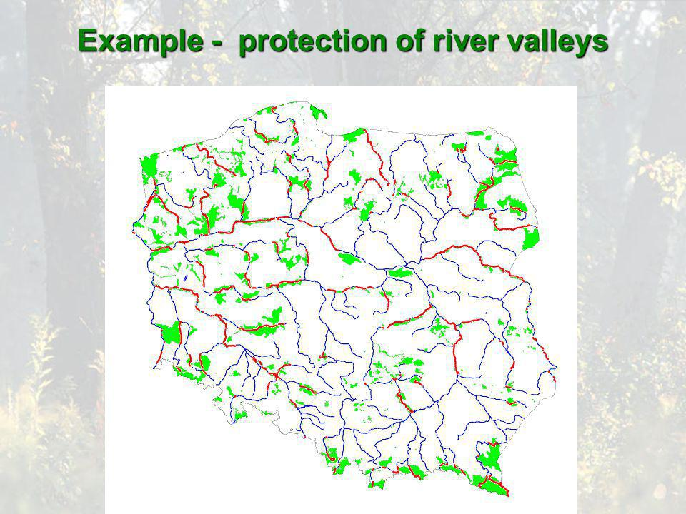 Example - protection of river valleys