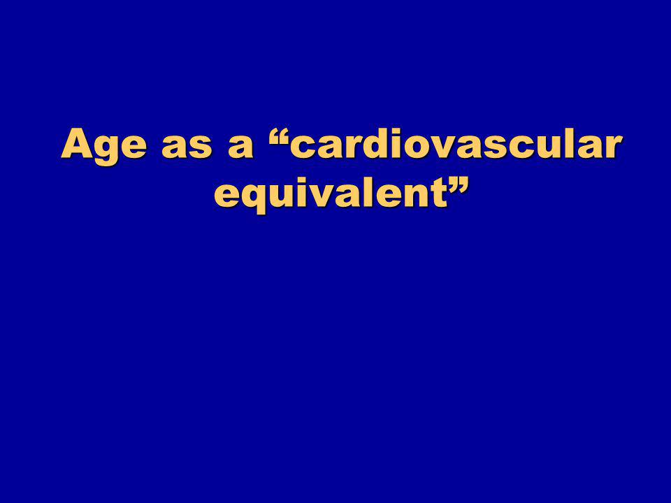 Age as a cardiovascular equivalent