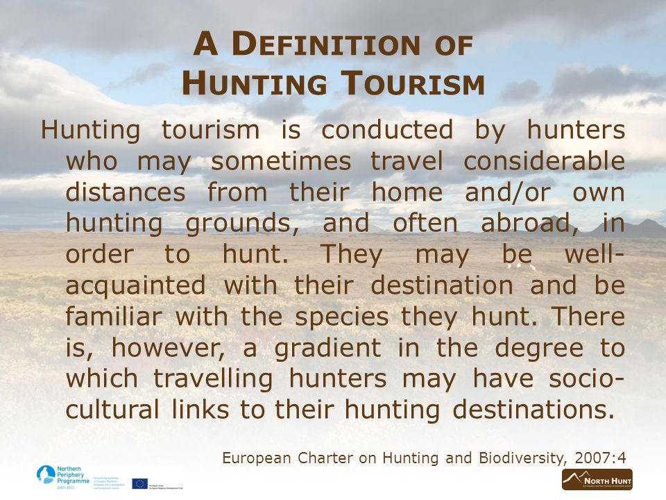 F INDINGS FROM INTERVIEWS A description of hunting tourism and associated activities Public opinion on hunting tourism The impact of hunting tourism – Recreational hunting and hunting traditions – Impact on other rural activities/industries – Social impacts – Ecological impacts – Economic impacts The opportunities presented by hunting tourism The obstacles faced by hunting tourism The future of hunting and hunting tourism in Iceland