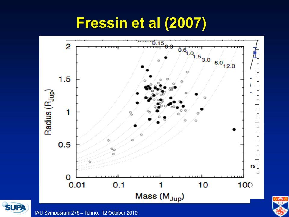 IAU Symposium 276 -- Torino, 12 October 2010 Fressin et al (2007)