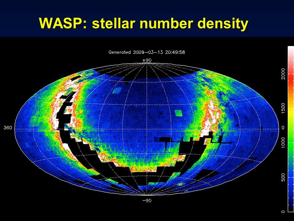 IAU Symposium 276 -- Torino, 12 October 2010 WASP: stellar number density