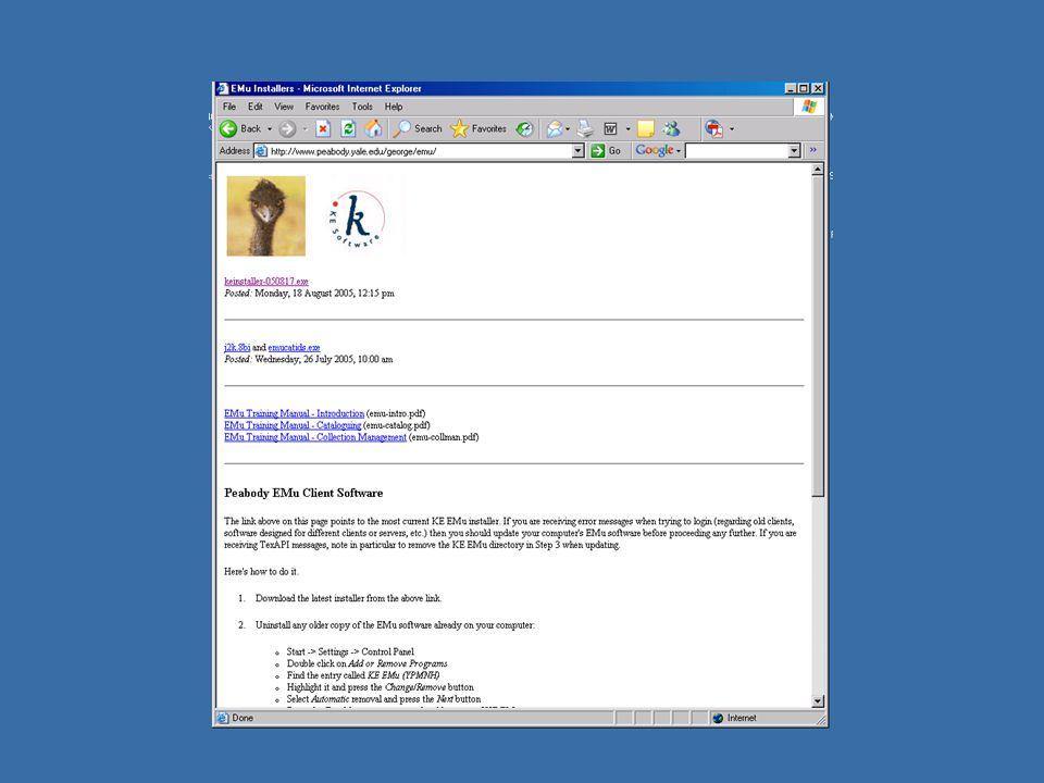Local Emu web site