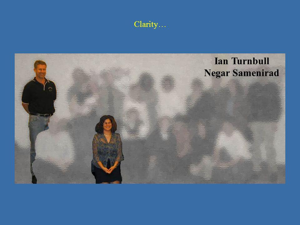 Clarity… Ian Turnbull Negar Samenirad