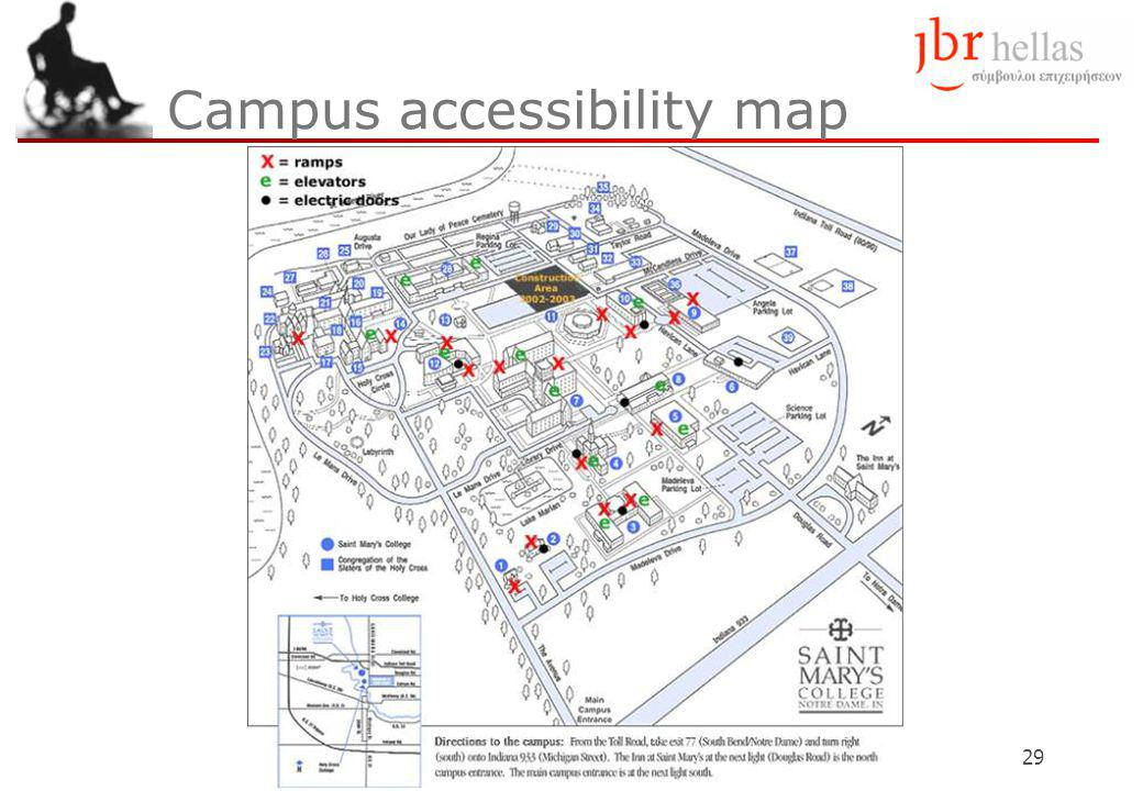 29 Campus accessibility map
