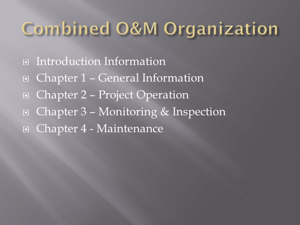 A.Operation, Monitoring & Inspection Forms B. Reservoir Storage C.