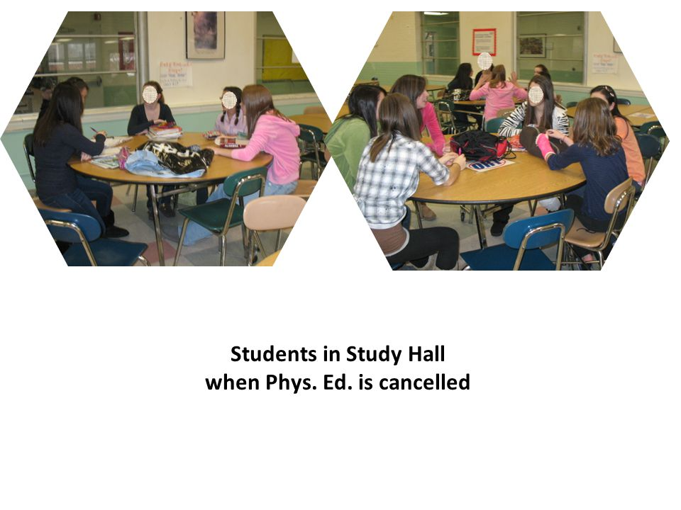 Students in Study Hall when Phys. Ed. is cancelled
