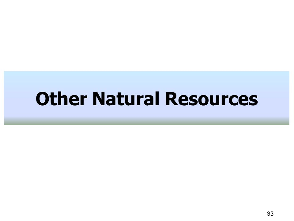 33 Other Natural Resources