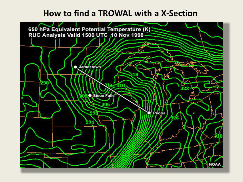 How to find a TROWAL with a X-Section