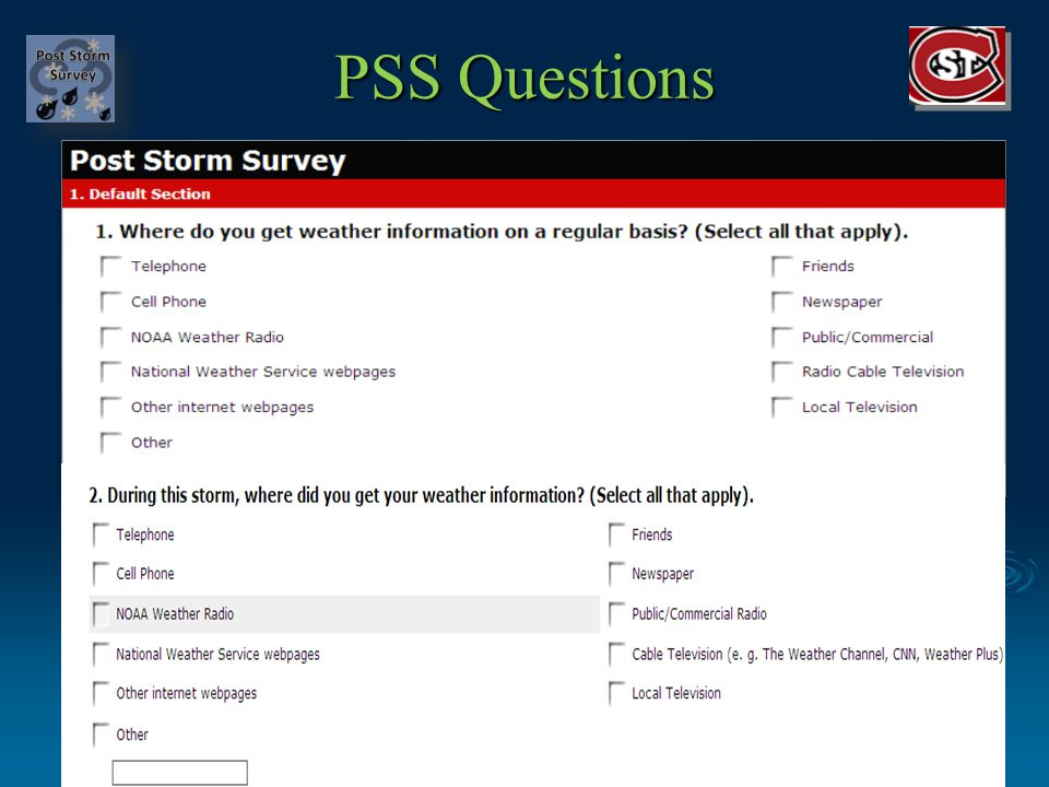 PSS Questions