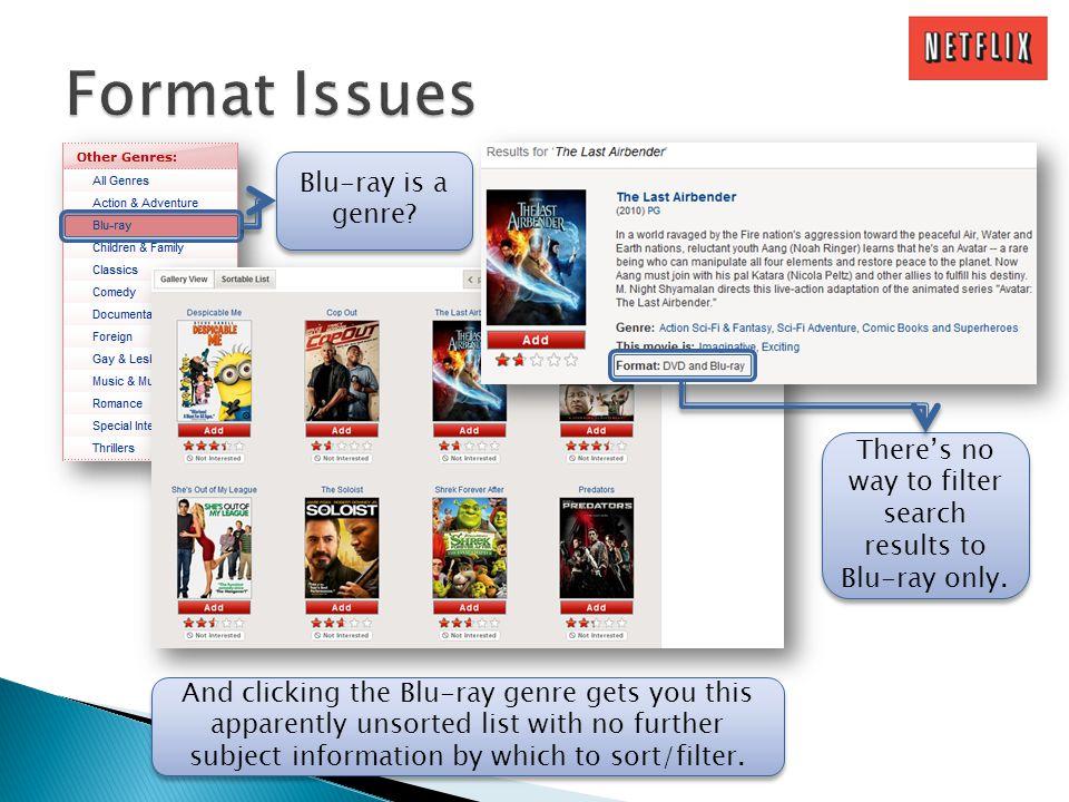 Blu-ray is a genre.