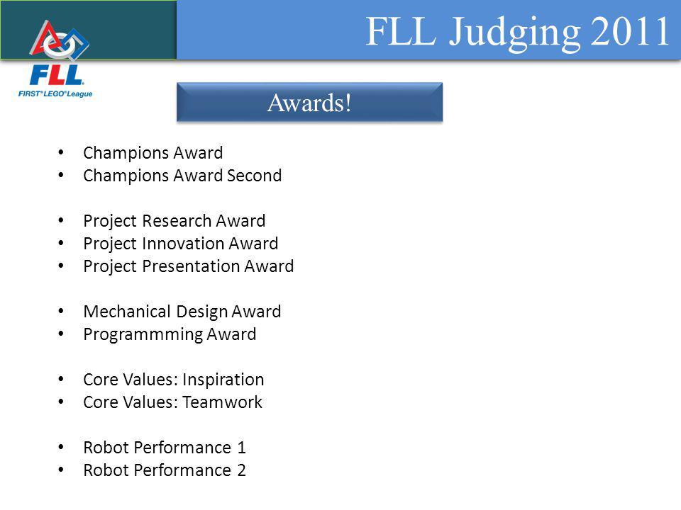 FLL Judging 2011 Awards.
