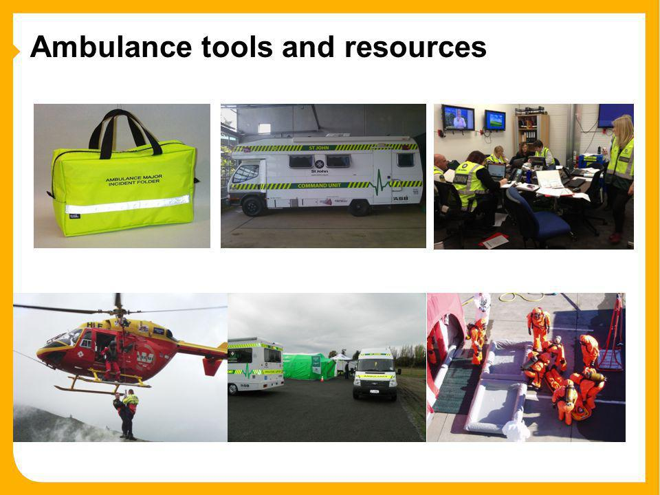 Ambulance tools and resources
