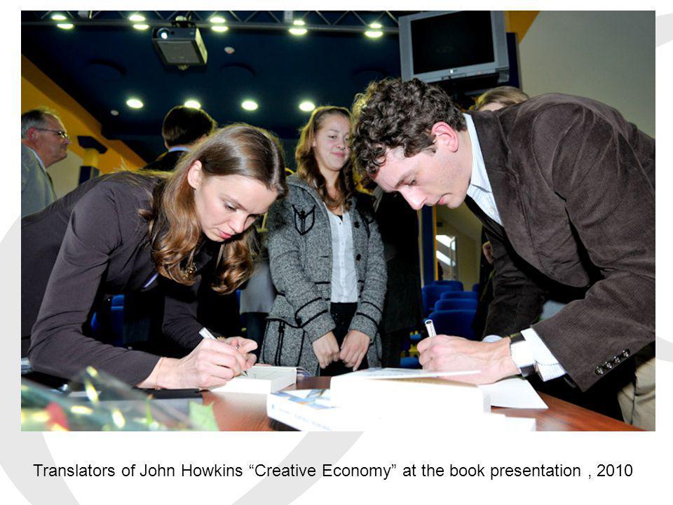 Translators of John Howkins Creative Economy at the book presentation, 2010