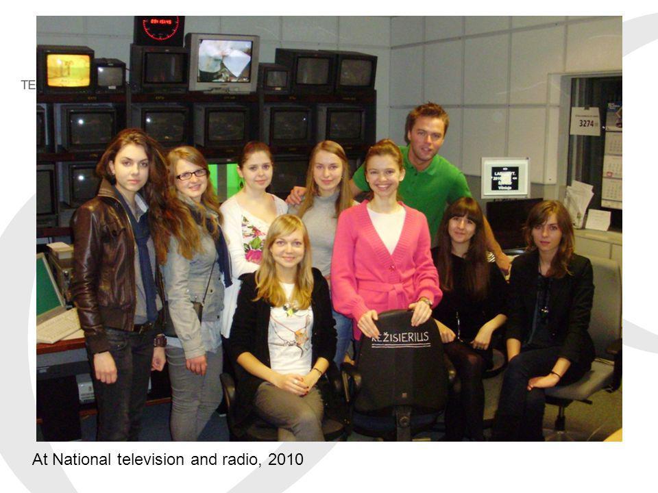 At National television and radio, 2010