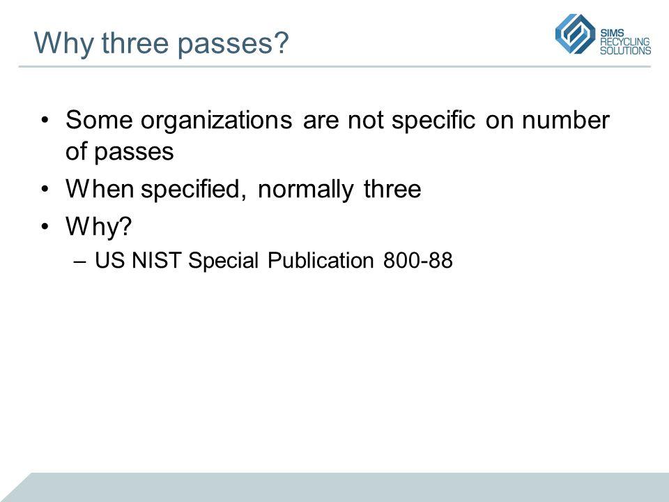 Why three passes.