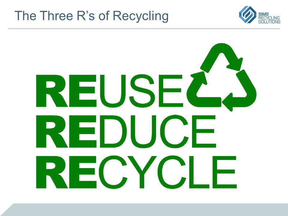 The Three Rs of Recycling