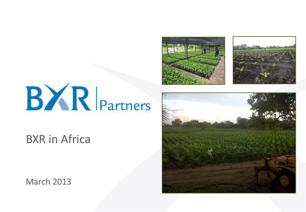 BXR in Africa March 2013