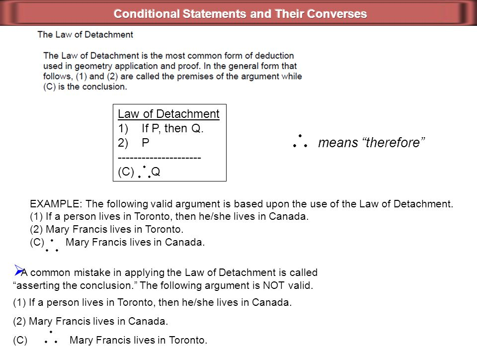 How do you determine whether a conditional statement is true or false.