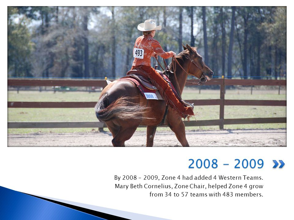 Membership Grew From 483 to 841 in 2009 and to 1269 in 2010 42 new teams were added in 2009 and 65 in 2010 New teams in Tennessee and Alabama were added Eleven new western teams were added Zone 4 Doubled in 2009 and 2010!