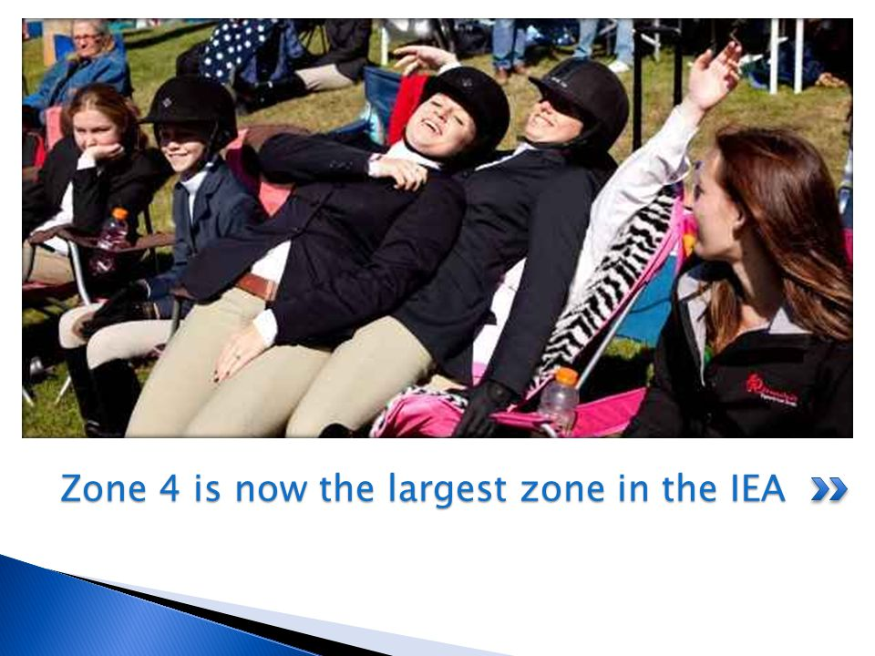 Zone 4 is now the largest zone in the IEA