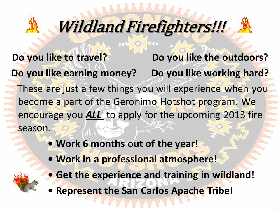 Wildland Firefighters!!. Do you like to travel Do you like the outdoors.